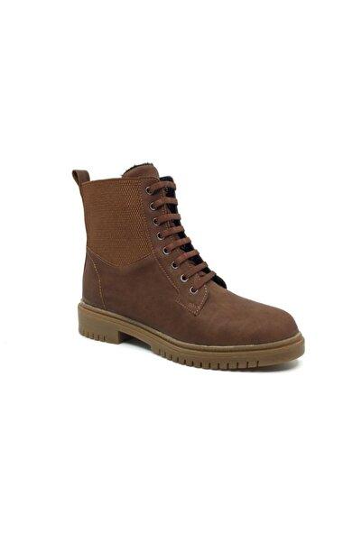 Sedef Kadın Kahverengi Kışlık Cehlsea Bot Su Soğuk Geçirmez Ayakkabı