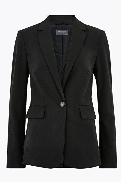 Marks & Spencer Kadın Siyah Tailored Fit Blazer Ceket T59001300J