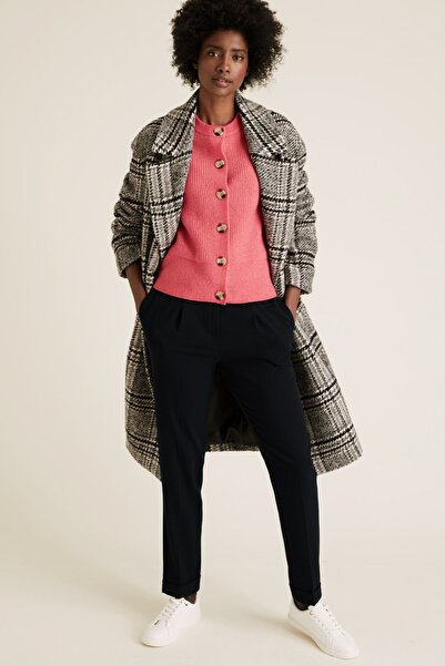 Marks & Spencer Kadın Lacivert Tapered Ankle Grazer Pantolon T59005010