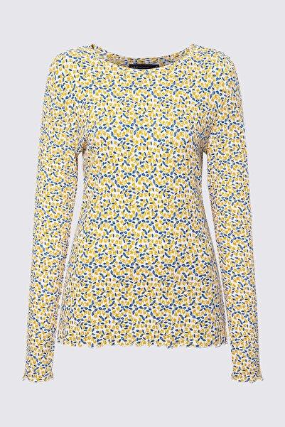 Marks & Spencer Kadın Bej Uzun Kollu Desenli Bluz T41006711