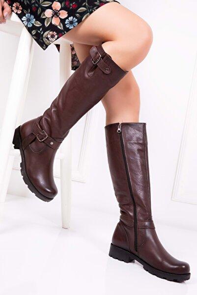 Gondol Kadın  Kahverengi  Deri   Çizme