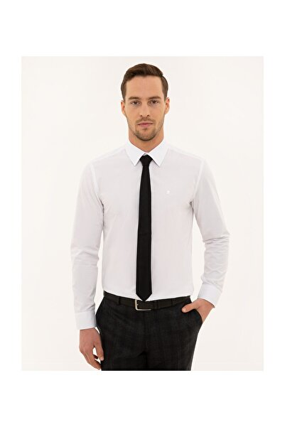 Pierre Cardin Erkek Beyaz Slim Fit Basic Gömlek G021GL004.000.1120403