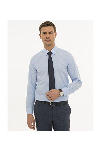 Pierre Cardin Erkek Mavi Regular Fit Basic Gömlek G021GL004.000.1214477
