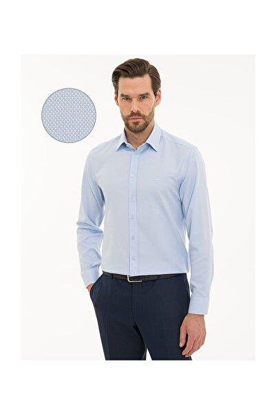 Pierre Cardin Erkek Açık Mavi Slim Fit Oxford Gömlek