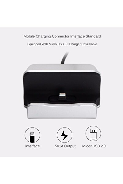 Ally Mobile Iphone 11,xs Xr 6,6s,7,8 2in1 Stand + Usb Şarj Kablosu
