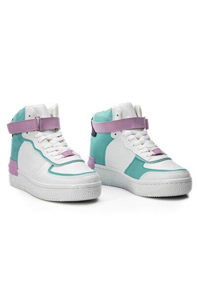 LETOON Kadın Beyaz Turkuaz Günlük Ayakkabı Mrk21