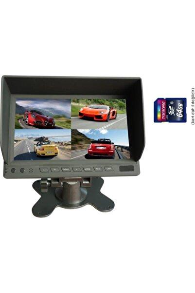 Twogo Servis Aracı Kayıtlı Monitör Seti 4 Kamera + Sd Kartlı Dvr 7 Monitör Go-4044