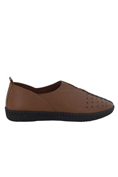 Hobby Taba Deri Kadın Ayakkabı Fb119