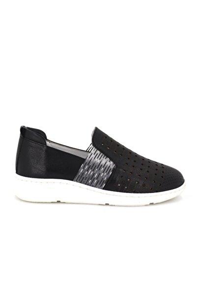 Hobby Divadonna Siyah Ortopedik Kadın Günlük Ayakkabı Dd2219