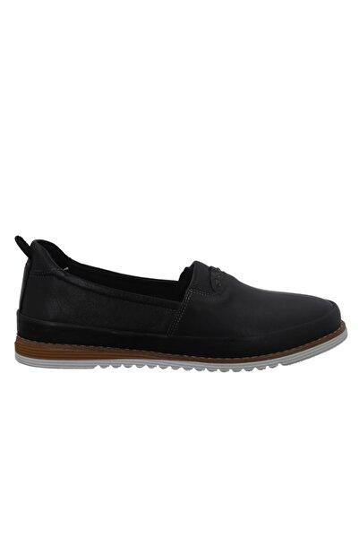 Hobby Divadonna Siyah Deri Günlük Kadın Ayakkabı 8672