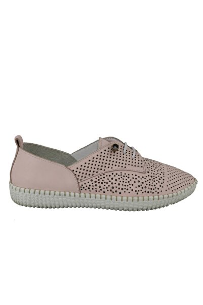 Hobby Kadın Deri Günlük Ayakkabı Pudra Fb122