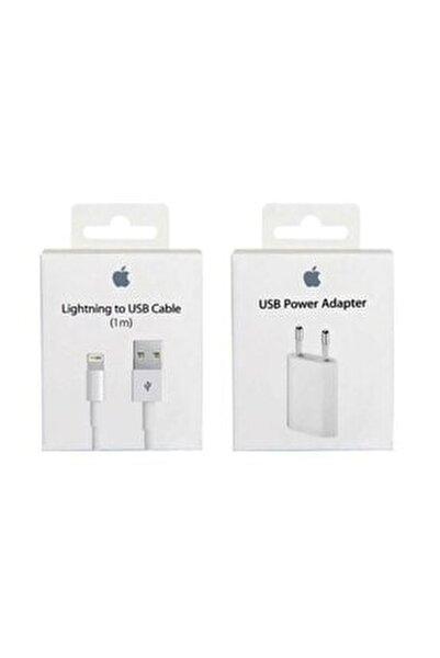 Iphone Şarj Aleti Cihazı + Usb Kablosu  Lightning
