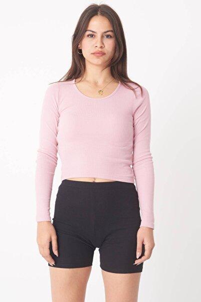 Addax Kadın Pale Uzun Kollu Bluz B1069 - W12 Adx-0000023026