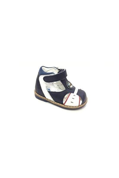 Perlina Çocuk Lacivert Hakiki Deri İlk Adım Ayakkabı