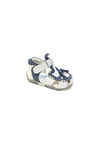Perlina Çocuk Mavi Ortopedik Hakiki Deri Ilk Adım Ayakkabısı