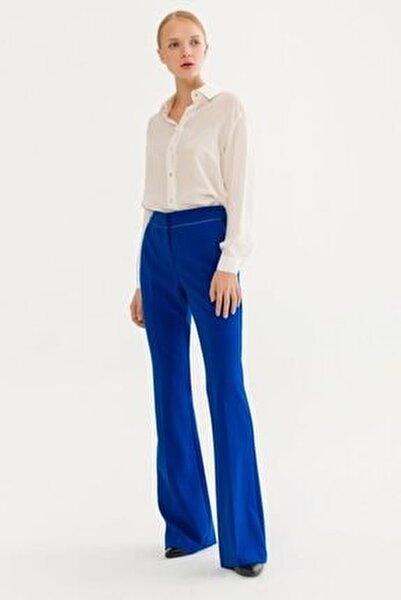 Kadın Saks Biye Detaylı Pantolon 153C1579000022