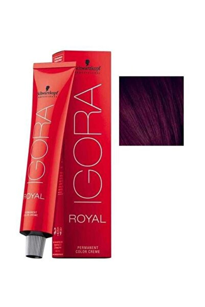 SCHWARZKOPF HAIR MASCARA Yoğun Viyole Açık Kahverengi Igora Royal Saç Boyası 5-99 60 ml 4045787206845