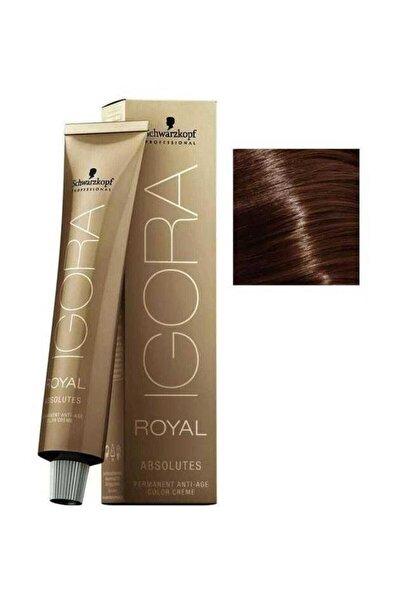 SCHWARZKOPF HAIR MASCARA Koyu Kumral Çikolata Doğal Igora Royal Absolutes Saç Boyası 6-60 60 ml 4045787282436