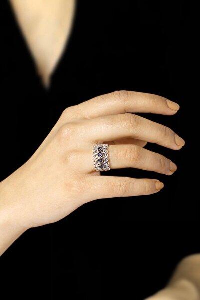 Sümer Telkari Kadın Telkari İşlemeli Gümüş Yüzük 2524
