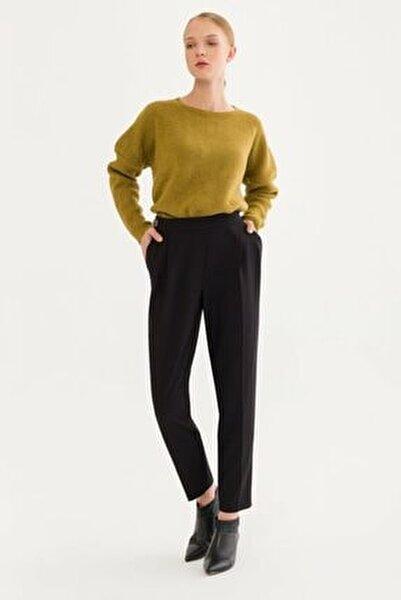 Kadın Siyah Düğmeli Pantolon 15338031000001