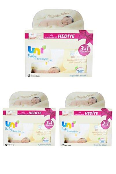 Uni Baby Yenidoğan Islak Mendil 3+1 3'lü 480 Yaprak