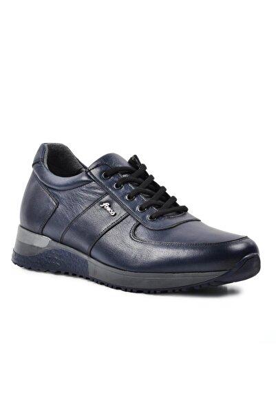 Fosco Erkek Lacivert 2101-1 Hakiki Deri Casual Ayakkabı