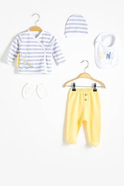 LC Waikiki Erkek Bebek Beyaz Çizgili Ljx Hastane Çıkışları