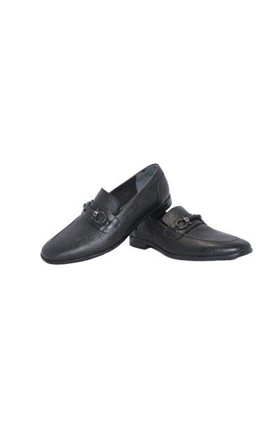Elite Erkek Siyah Tokalı Ayakkabı