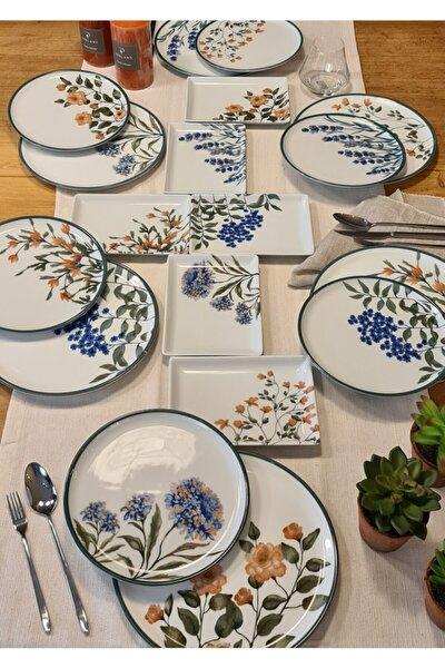 Porland Flower Garden Karma Ikram Ve Kahvaltı Takımı 18 Parça