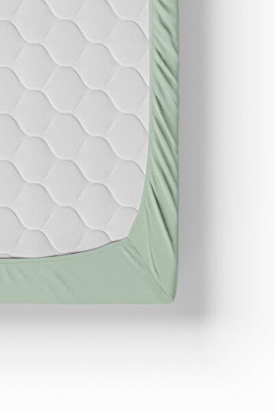 Anemons Mint Yeşil Battal Boy Penye Lastikli Çarşaf 180x200 Cm