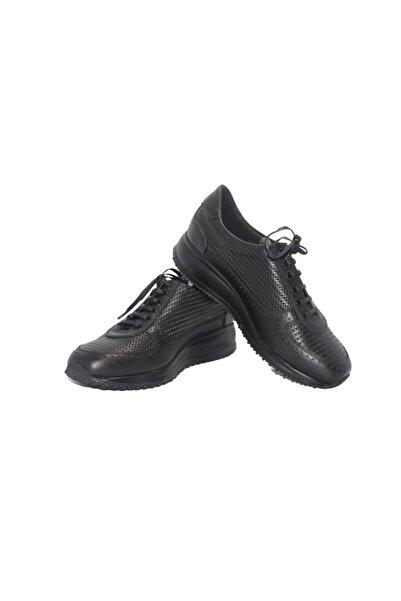 Elite Erkek Siyah Kışlık Yüksek Taban Bağcıklı Ayakkabı