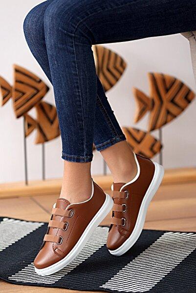 Pembe Potin Kadın Taba Ayakkabı