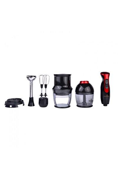 Karaca 4 in 1 Black Red Blendfit Blender Set