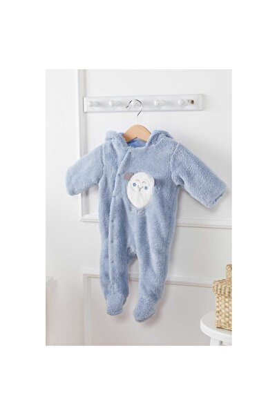 Bone Pijama Unisex Bebek Mavi Tulum 487118