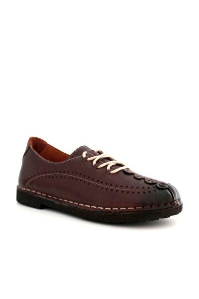 Beta Shoes Kadın Hakiki Deri Günlük Ayakkabı Kahve