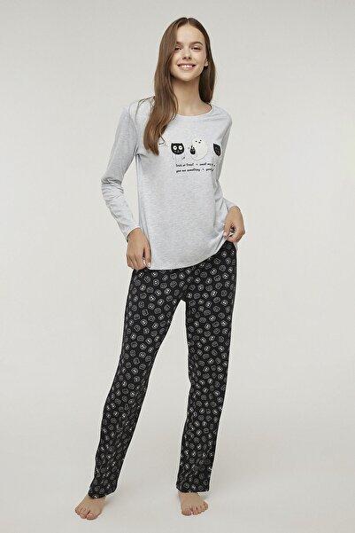 Penti Kadın Renkli Çok Renkli Creature Pijama Takımı