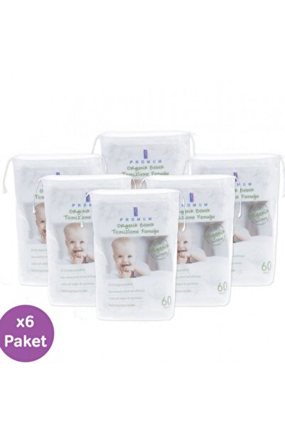 Promum Bebek Temizleme Pamuk Organik 6 'lı Paket