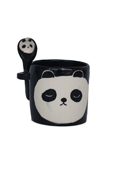 8GEN Lacivert El Yapımı Seramik Panda Bardak