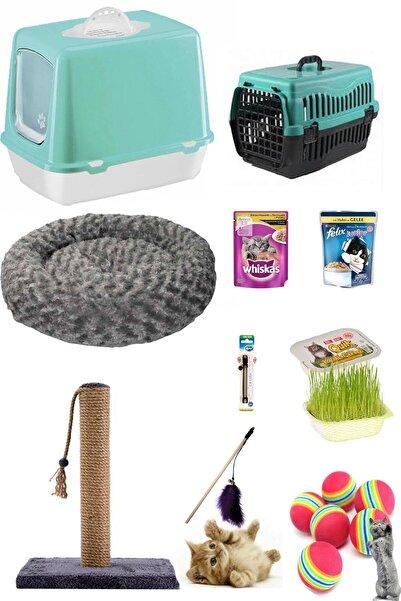 Pet Style Kedi Tuvalet Seti Ve Ihtiyaçları 10'lu Paket