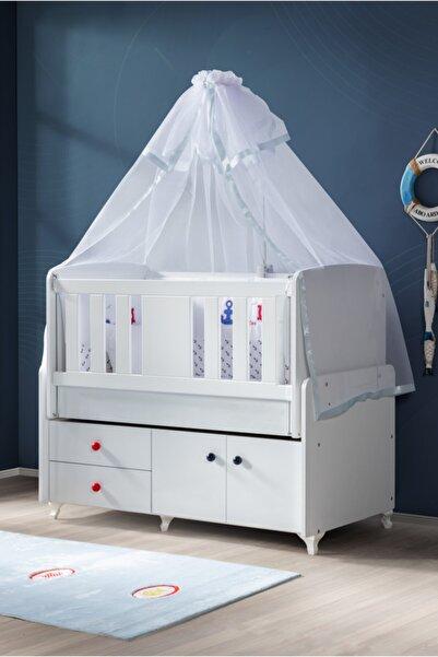 Setay Beşik, Armadi Çekmeceli Mavi Bebek Beşiği