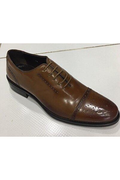 Gallery Erkek Taba Klasik Rugan Hakiki Deri Ayakkabı