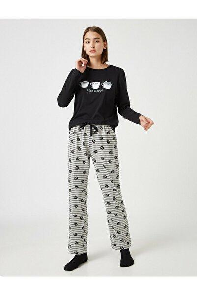 Koton Pamuk Baskili Pijama Takimi