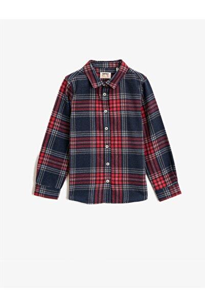 Koton Klasik Yaka Uzun Kollu Ekoseli Gömlek