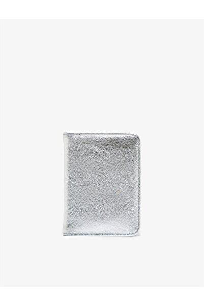 Koton Deri Görünümlü Metalik Cüzdan