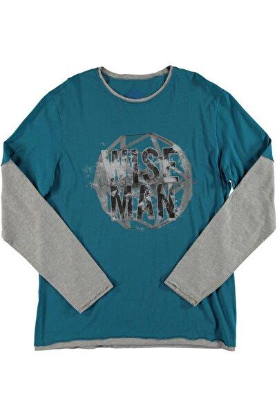 T-Box Erkek Mavi Tişört
