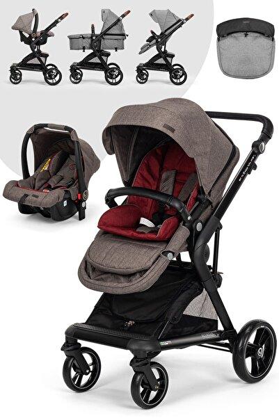 Elele Allroad 2 Travel Sistem Bebek Arabası Gri-bordo