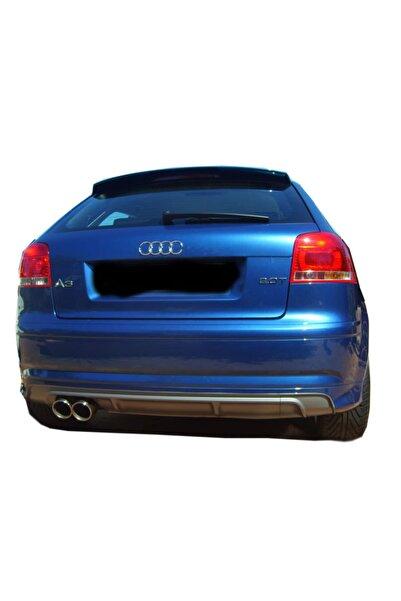 Audi A3 (2005-2012) Audi A3 8p S3 2005 - 2008 2 Kapı Arka Tampon Eki - Difüzör (plast