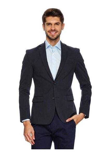 Cotton Bar Erkek Lacivert Blazer Ceket