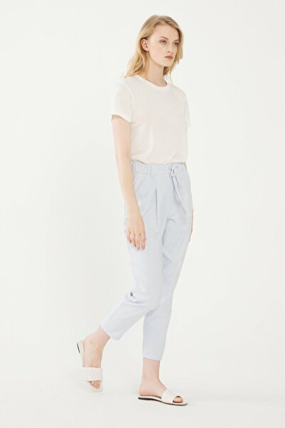 adL Kadın Mavi Beli Lastikli Pantolon 15331432006003