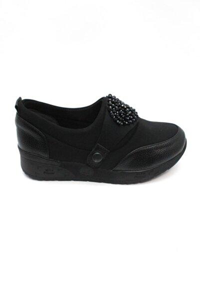 MT Kadın Siyah Spor Taşlı Ayakkabı e M&t 9601